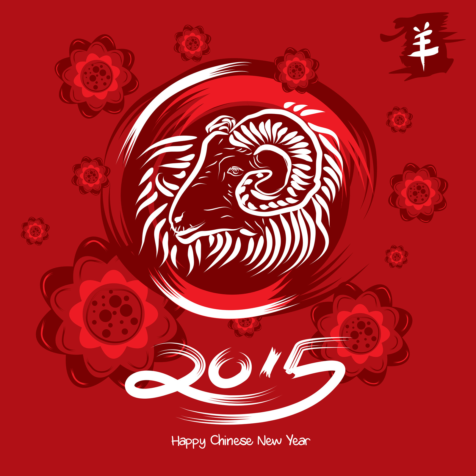 happy chinese new year 2015 – the year of the wood ram (goat or